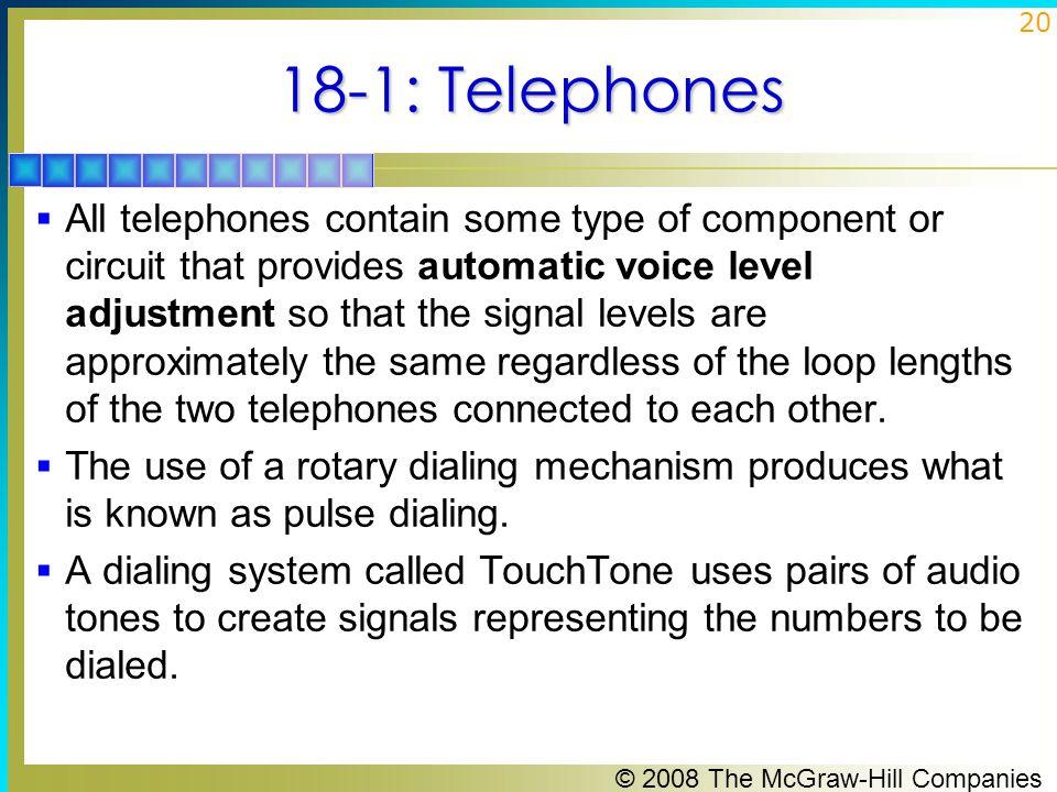 18-1: Telephones