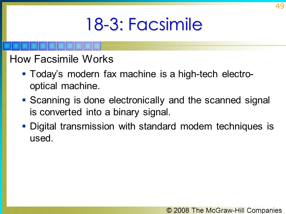18-3: Facsimile How Facsimile Works