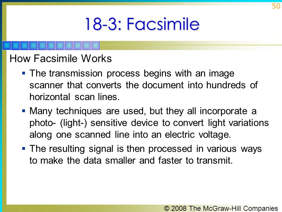 18-3: Facsimile How Facsimile Works