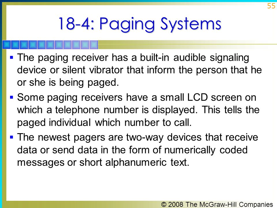 18-4: Paging Systems