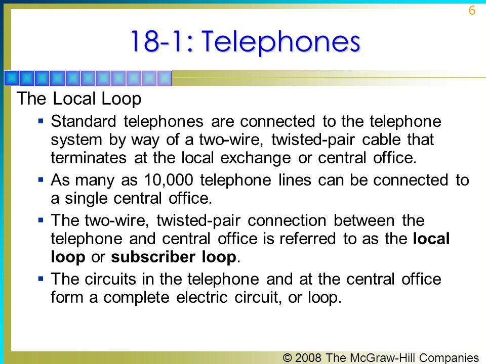 18-1: Telephones The Local Loop