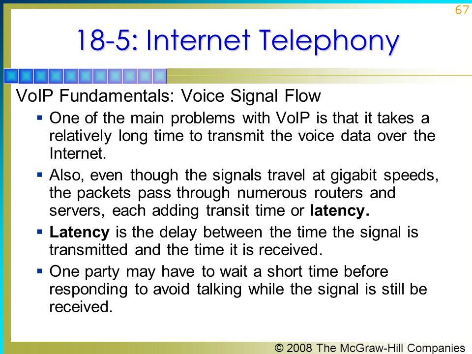 18-5: Internet Telephony VoIP Fundamentals: Voice Signal Flow