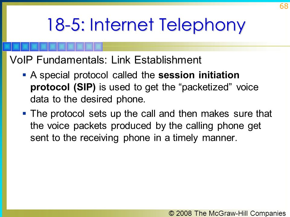 18-5: Internet Telephony VoIP Fundamentals: Link Establishment