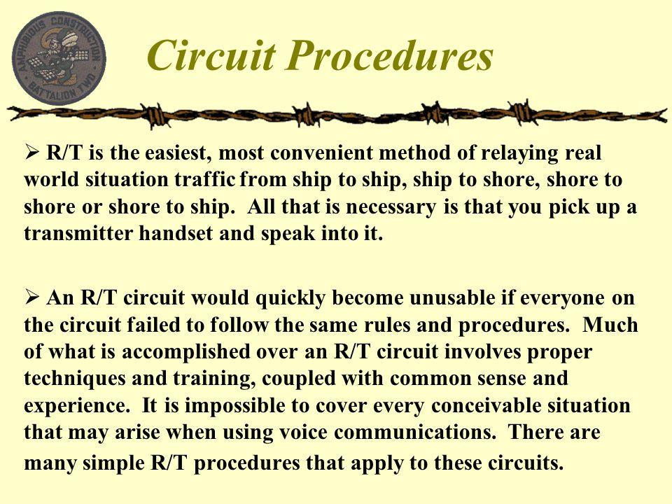 Circuit Procedures