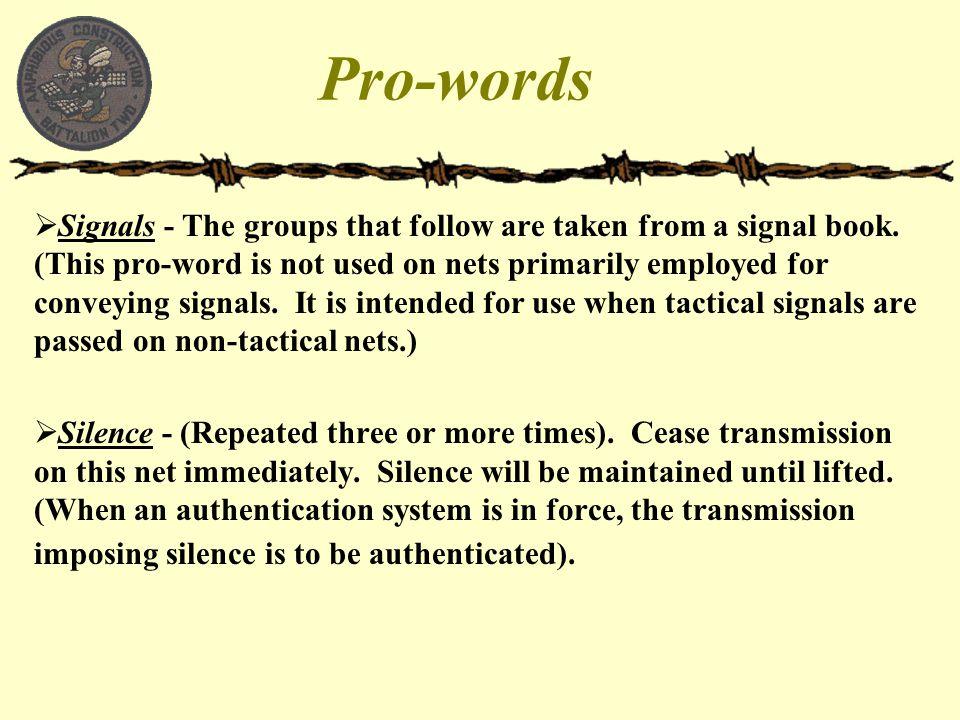 Pro-words