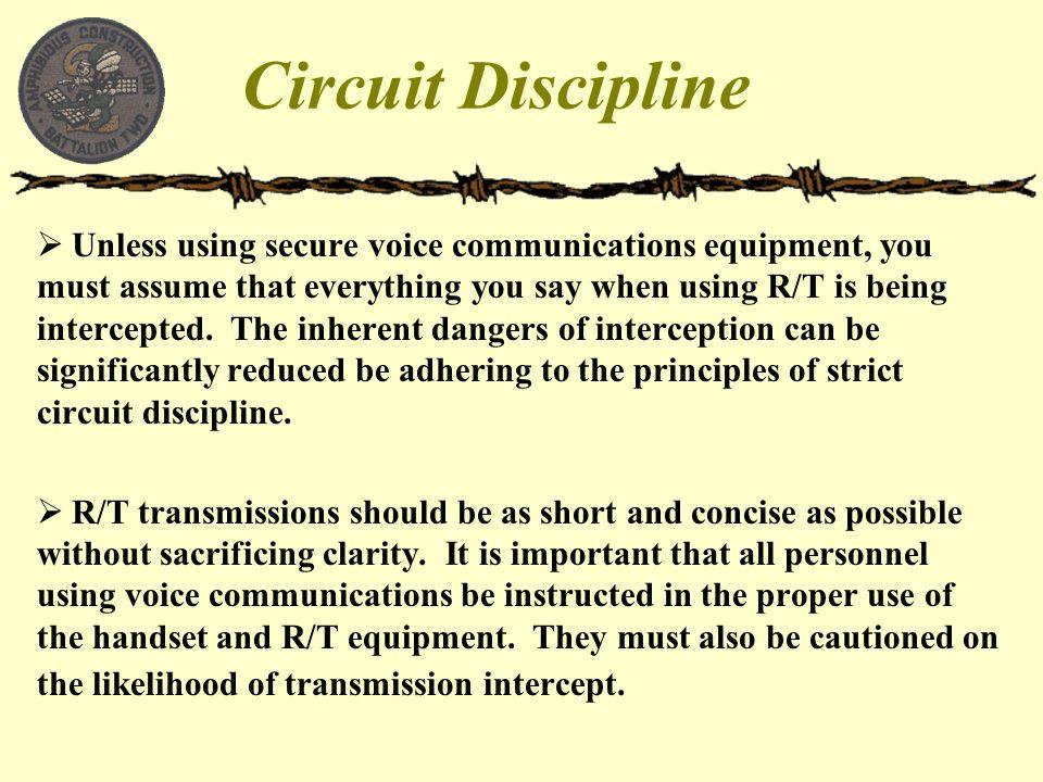 Circuit Discipline