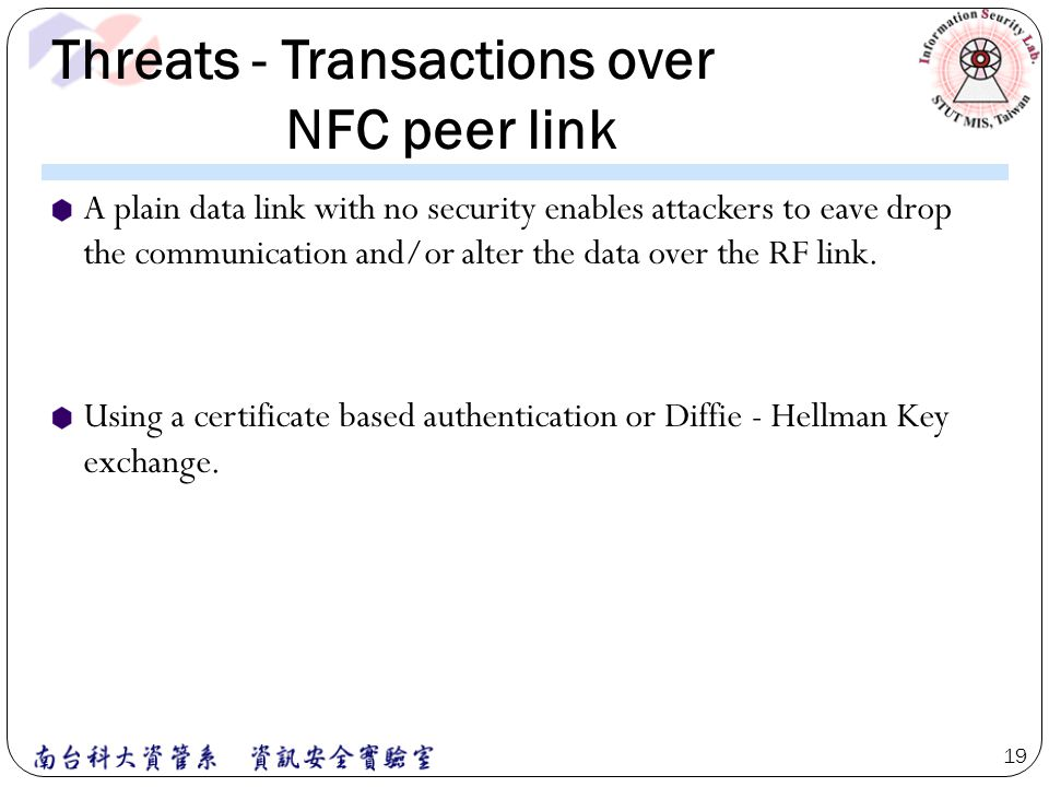 Threats - Transactions over NFC peer link