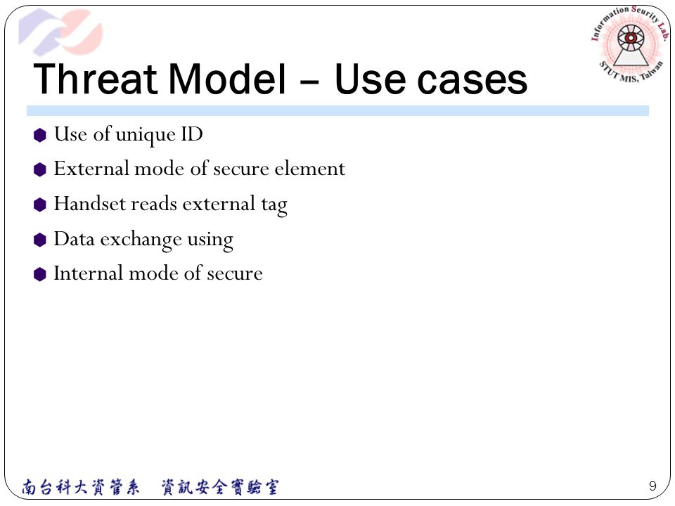Threat Model – Use cases