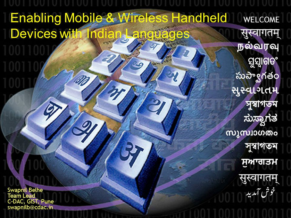 Enabling Mobile & Wireless Handheld Devices with Indian Languages
