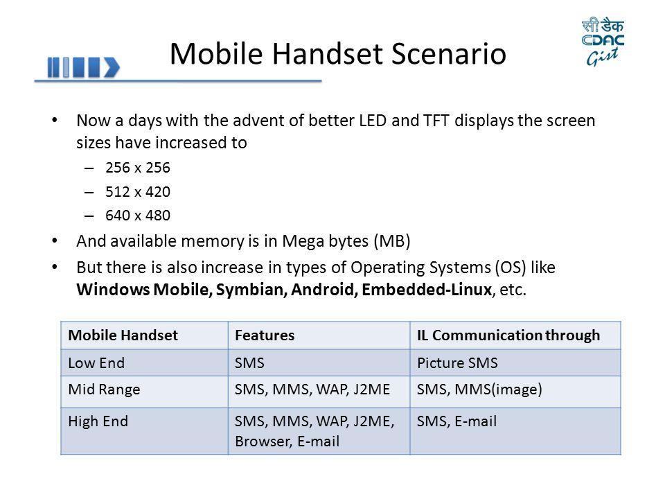 Mobile Handset Scenario