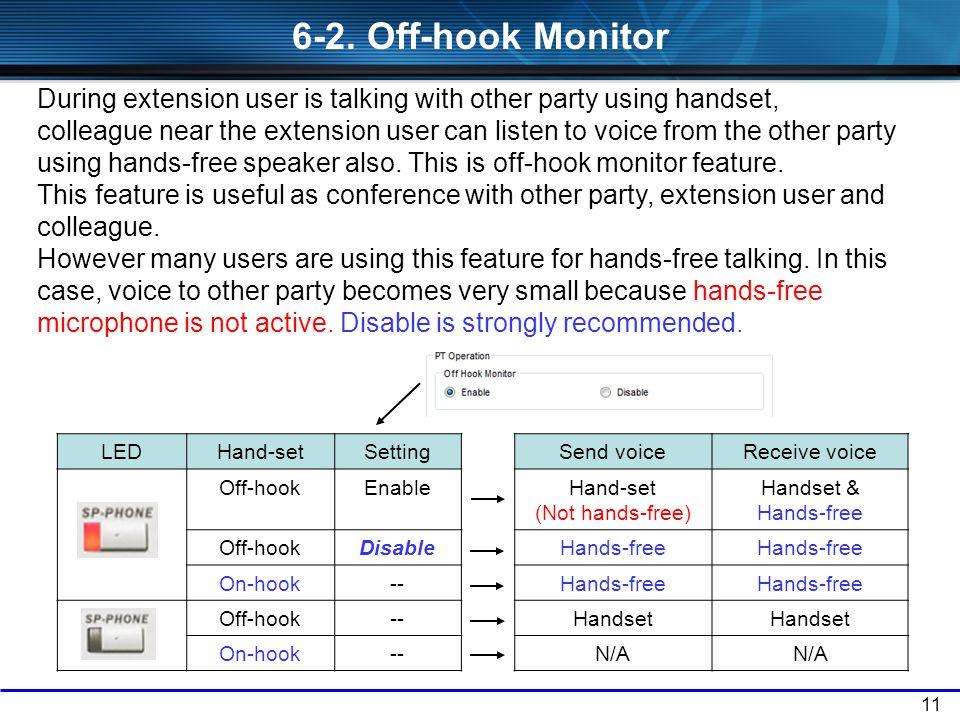 Hand-set (Not hands-free)
