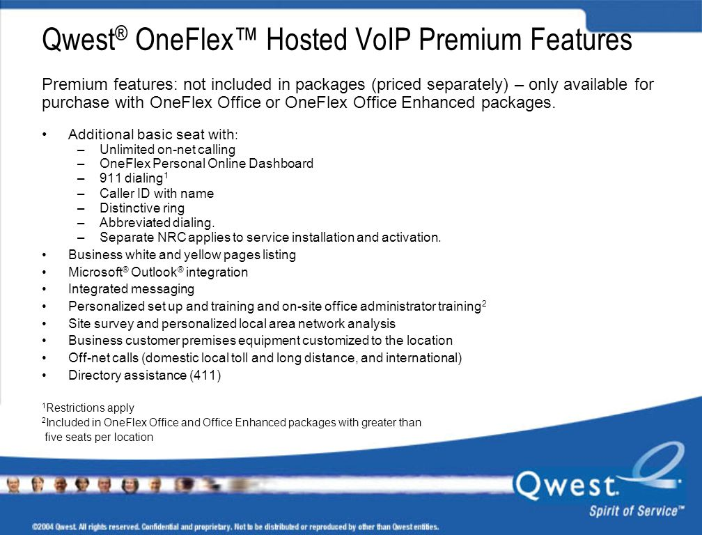 Qwest® OneFlex™ Hosted VoIP Premium Features