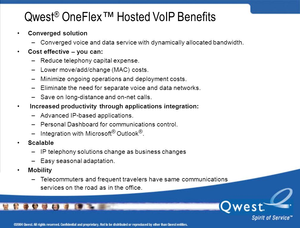 Qwest® OneFlex™ Hosted VoIP Benefits