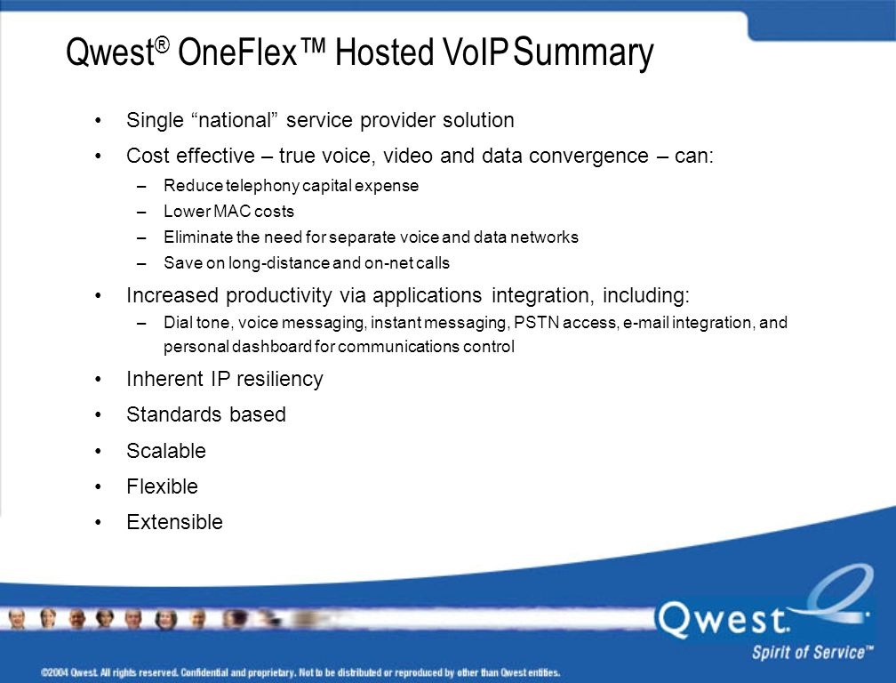 Qwest® OneFlex™ Hosted VoIP Summary
