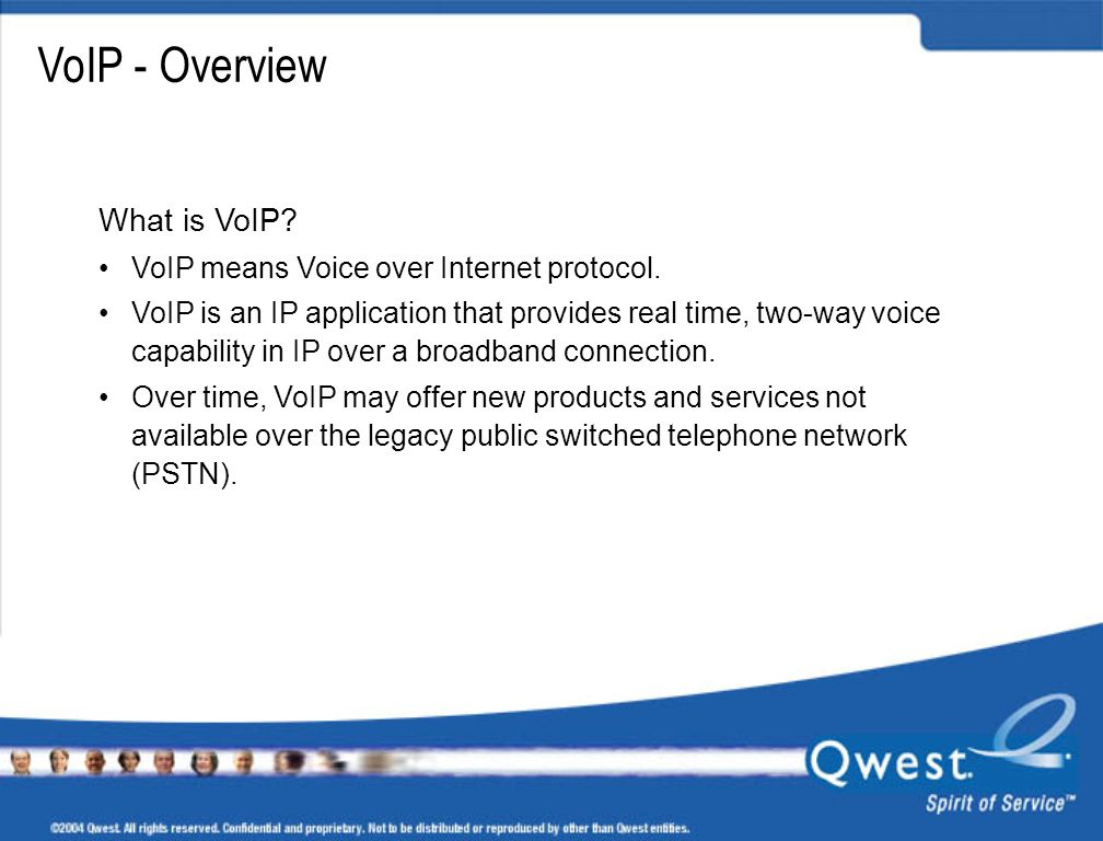 VoIP - Overview What is VoIP VoIP means Voice over Internet protocol.