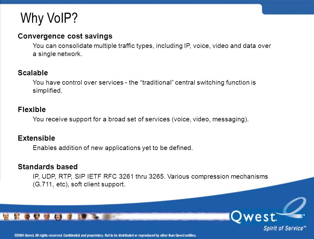 Why VoIP Convergence cost savings Scalable Flexible Extensible