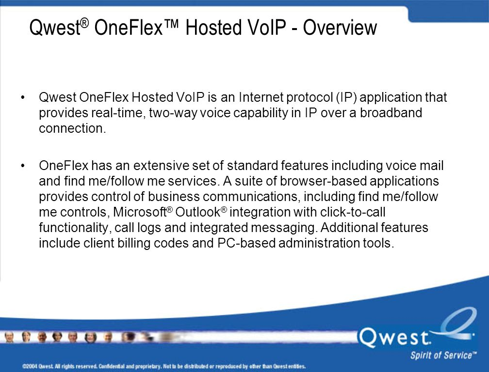 Qwest® OneFlex™ Hosted VoIP - Overview
