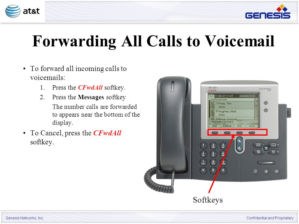 Forwarding All Calls to Voicemail