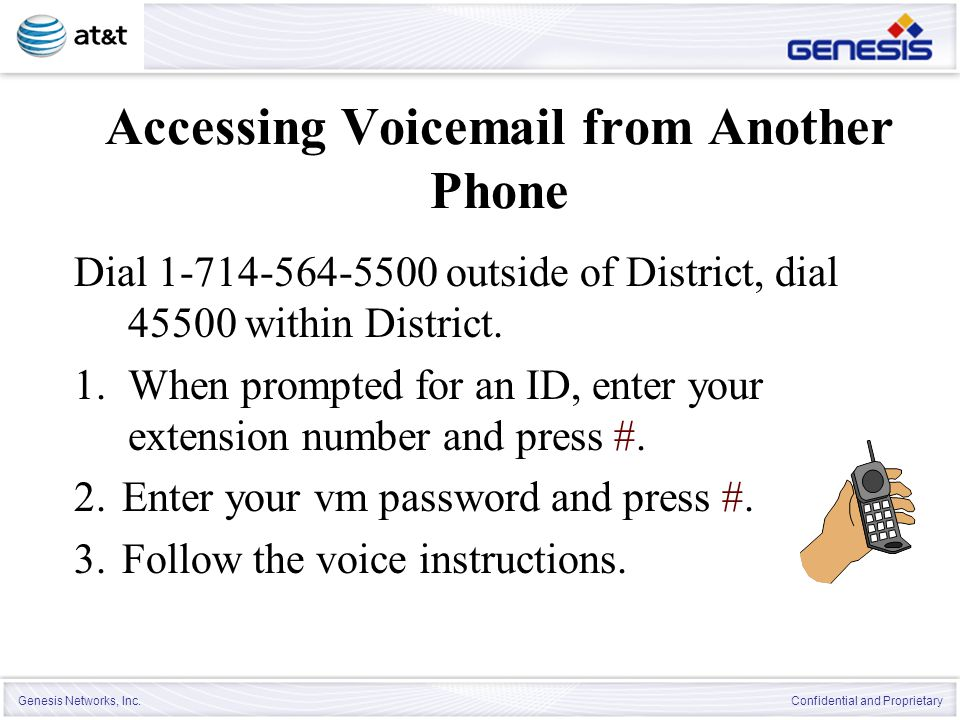 Accessing Voicemail from Another Phone