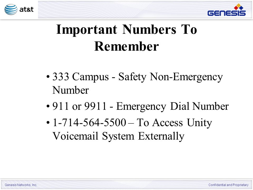 Important Numbers To Remember