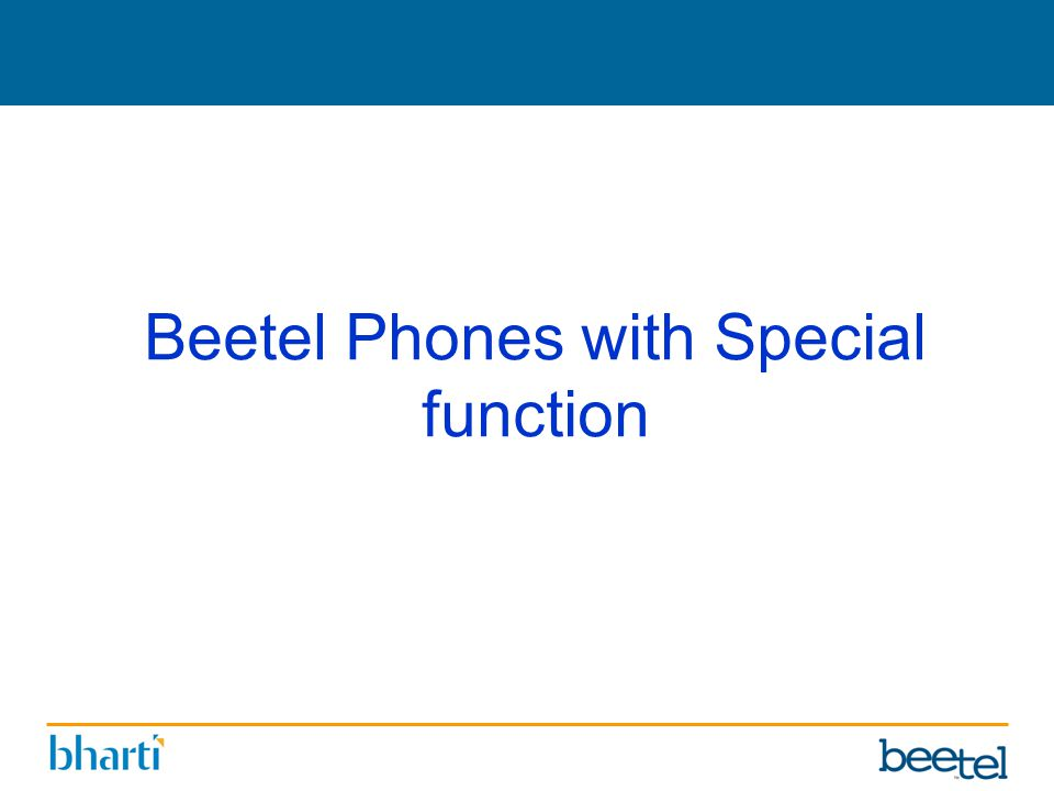 Beetel Phones with Special function