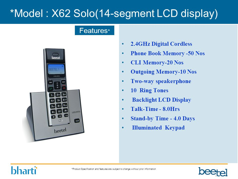 *Model : X62 Solo(14-segment LCD display)