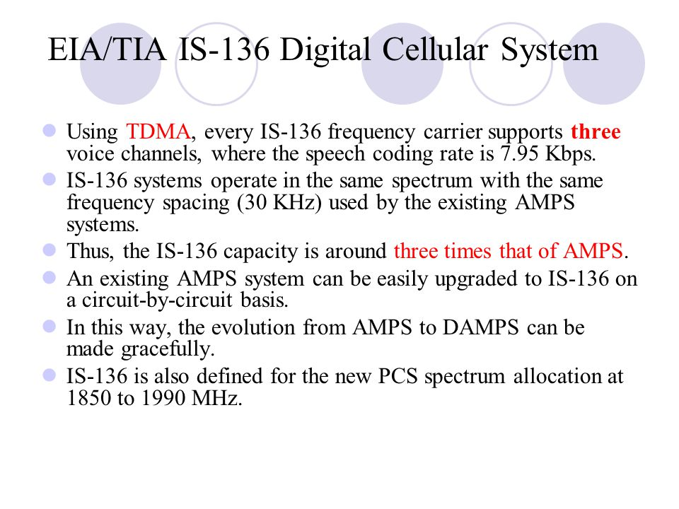 EIA/TIA IS‑136 Digital Cellular System