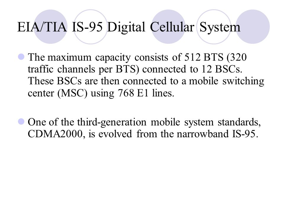 EIA/TIA IS‑95 Digital Cellular System