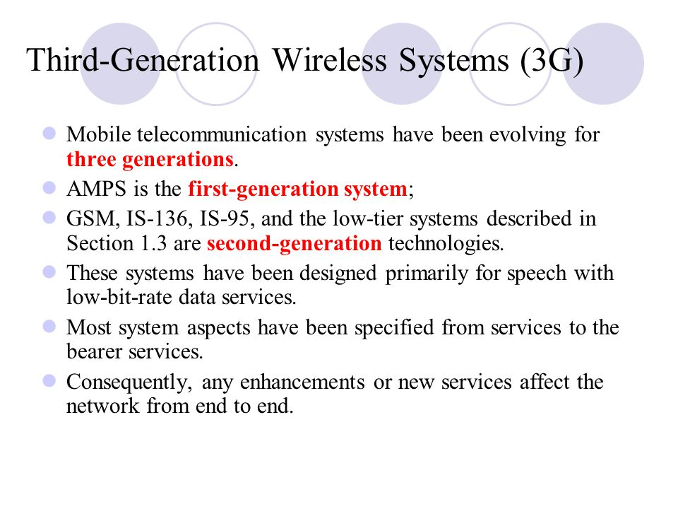 Third‑Generation Wireless Systems (3G)