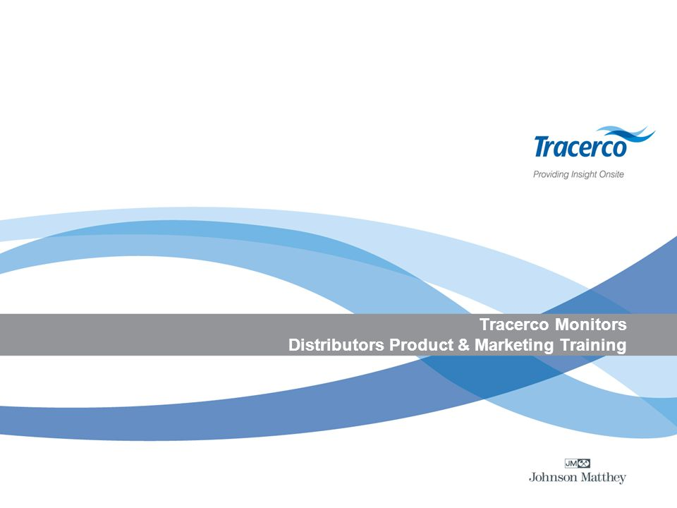 Tracerco Monitors Distributors Product & Marketing Training