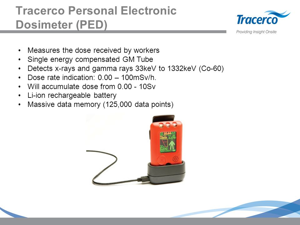 Tracerco Personal Electronic Dosimeter (PED)