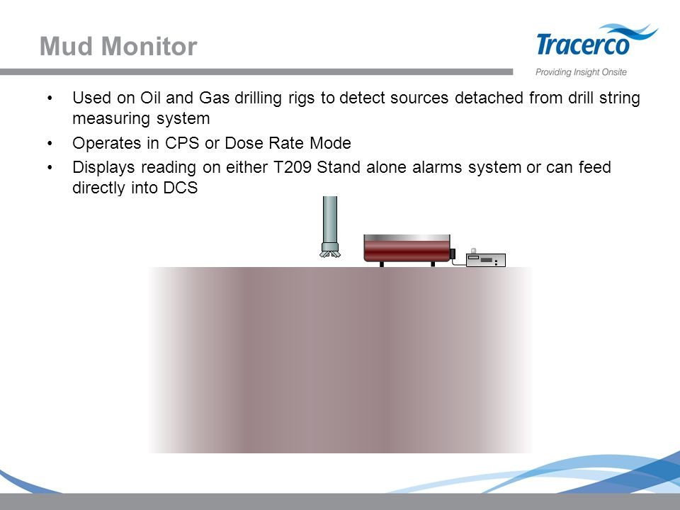 Mud Monitor Used on Oil and Gas drilling rigs to detect sources detached from drill string measuring system.