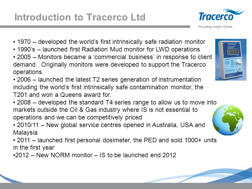 Introduction to Tracerco Ltd