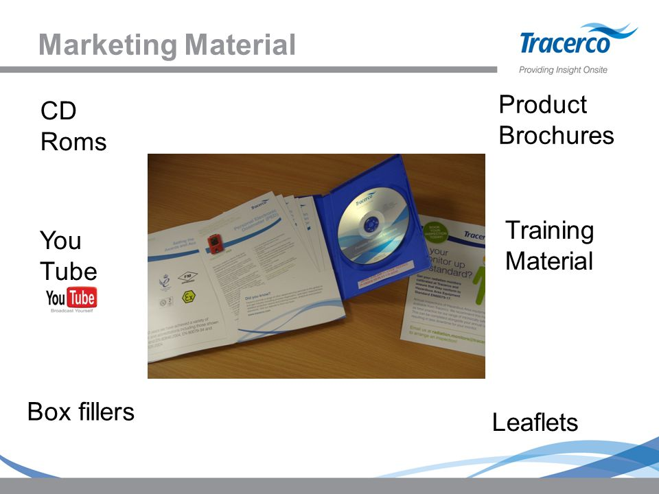 Marketing Material Product Brochures CD Roms Training Material