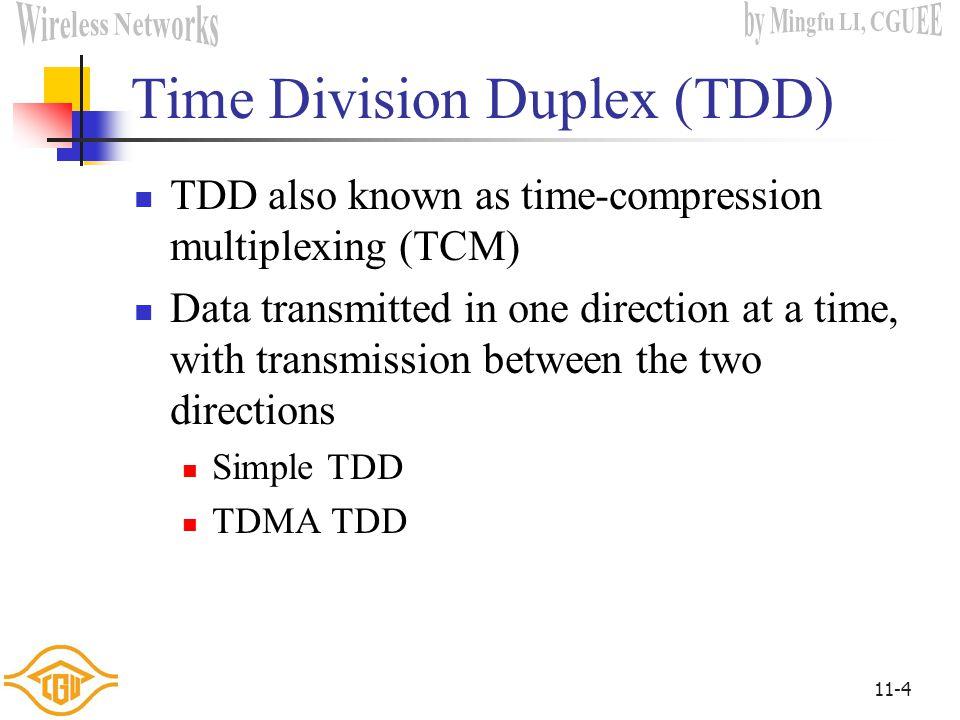 Time Division Duplex (TDD)