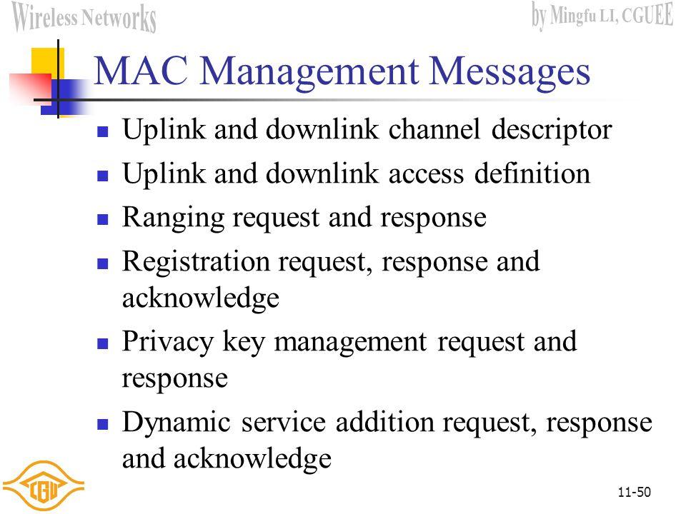 MAC Management Messages