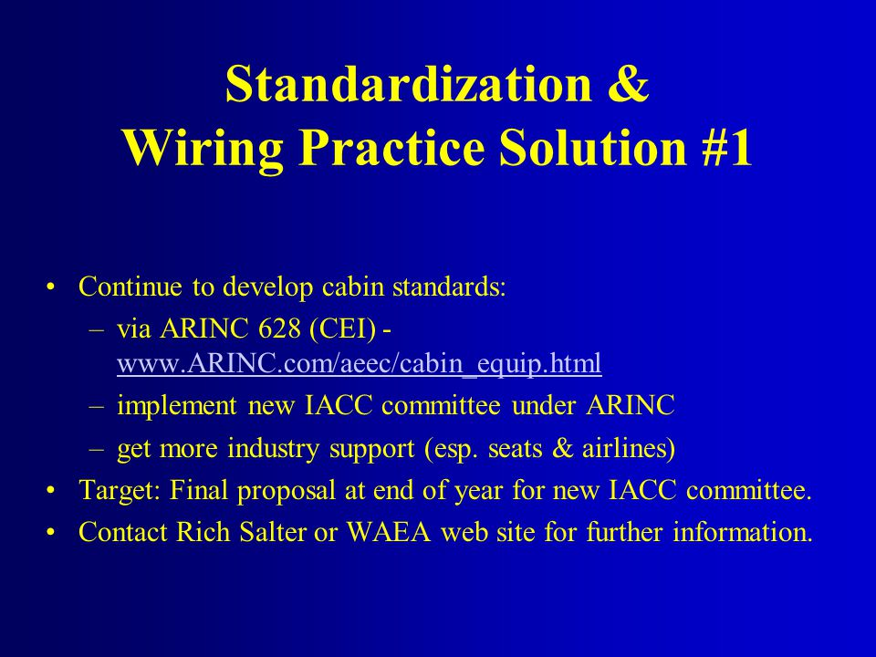 Standardization & Wiring Practice Solution #1