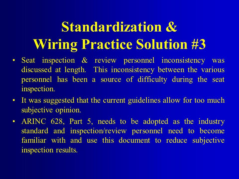 Standardization & Wiring Practice Solution #3