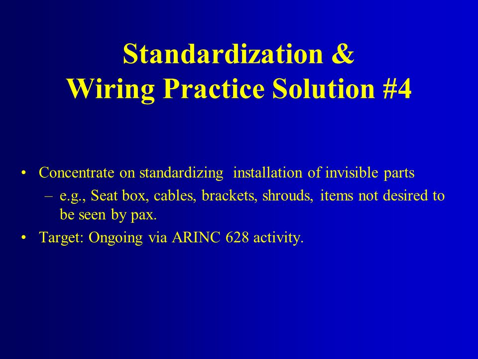 Standardization & Wiring Practice Solution #4