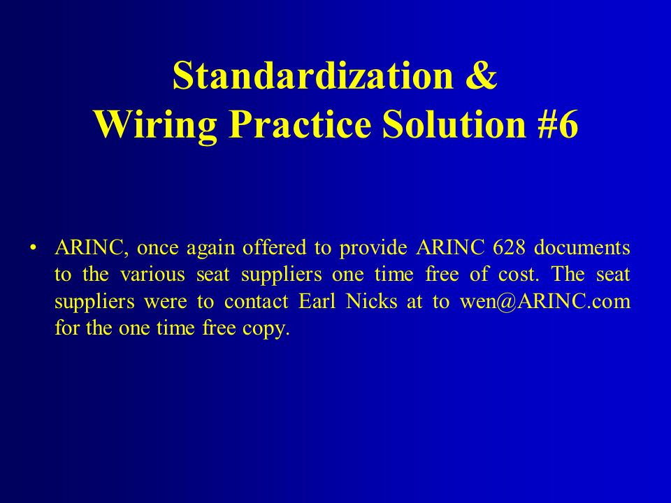 Standardization & Wiring Practice Solution #6