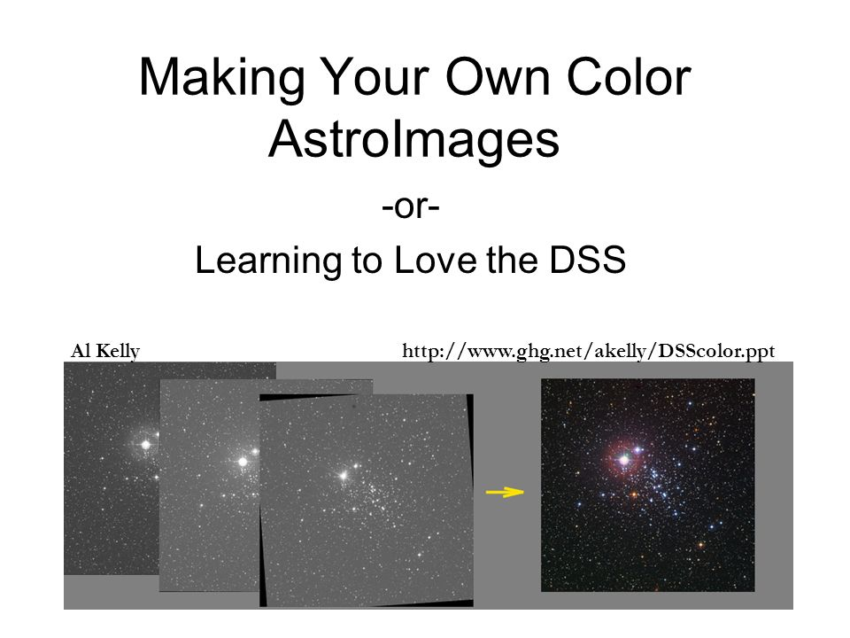 Making Your Own Color AstroImages