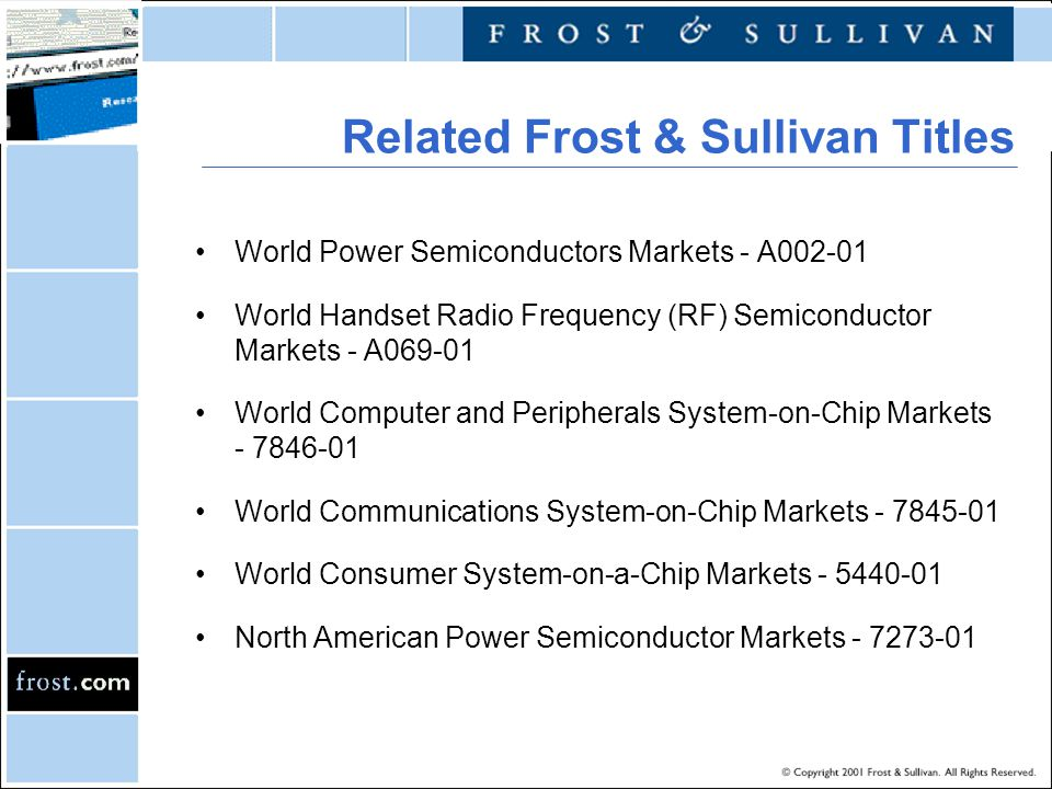 Related Frost & Sullivan Titles