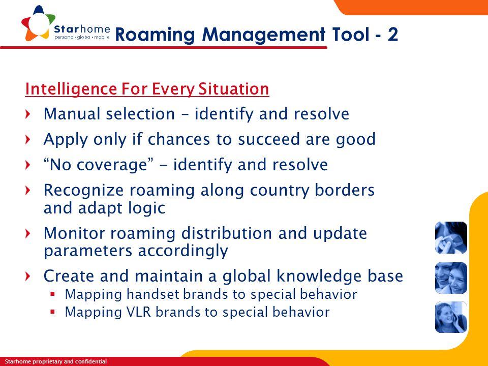 Roaming Management Tool - 2