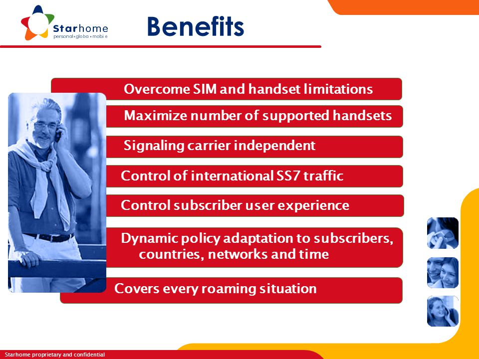 Benefits Overcome SIM and handset limitations