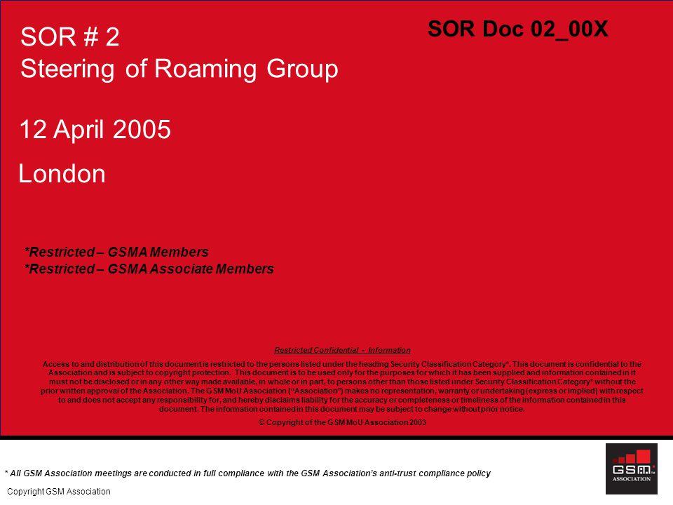 SOR # 2 Steering of Roaming Group