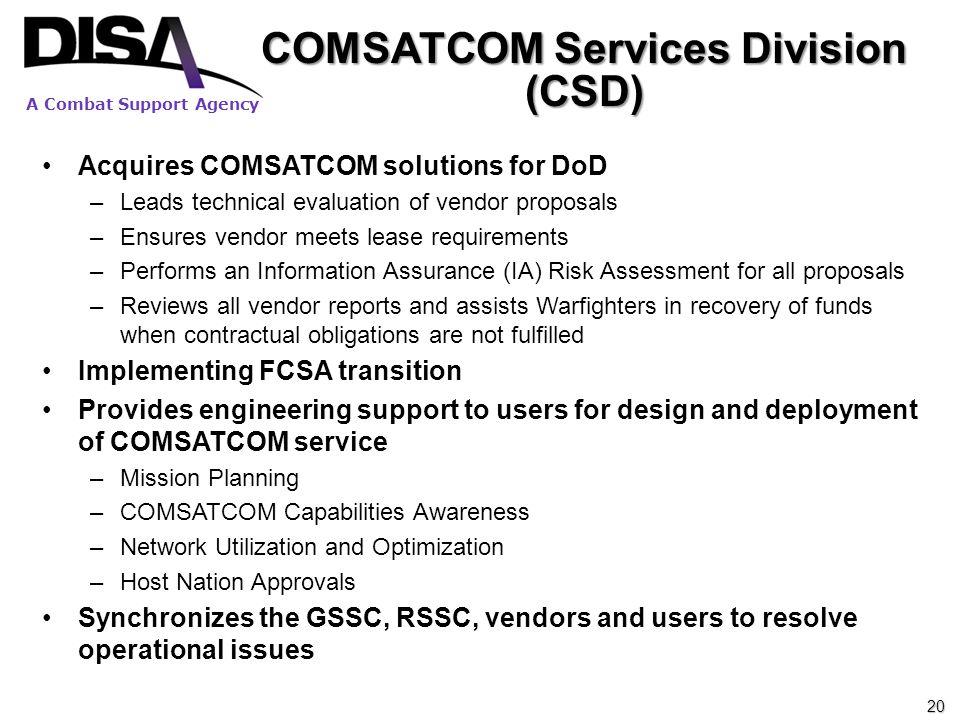 COMSATCOM Services Division (CSD)