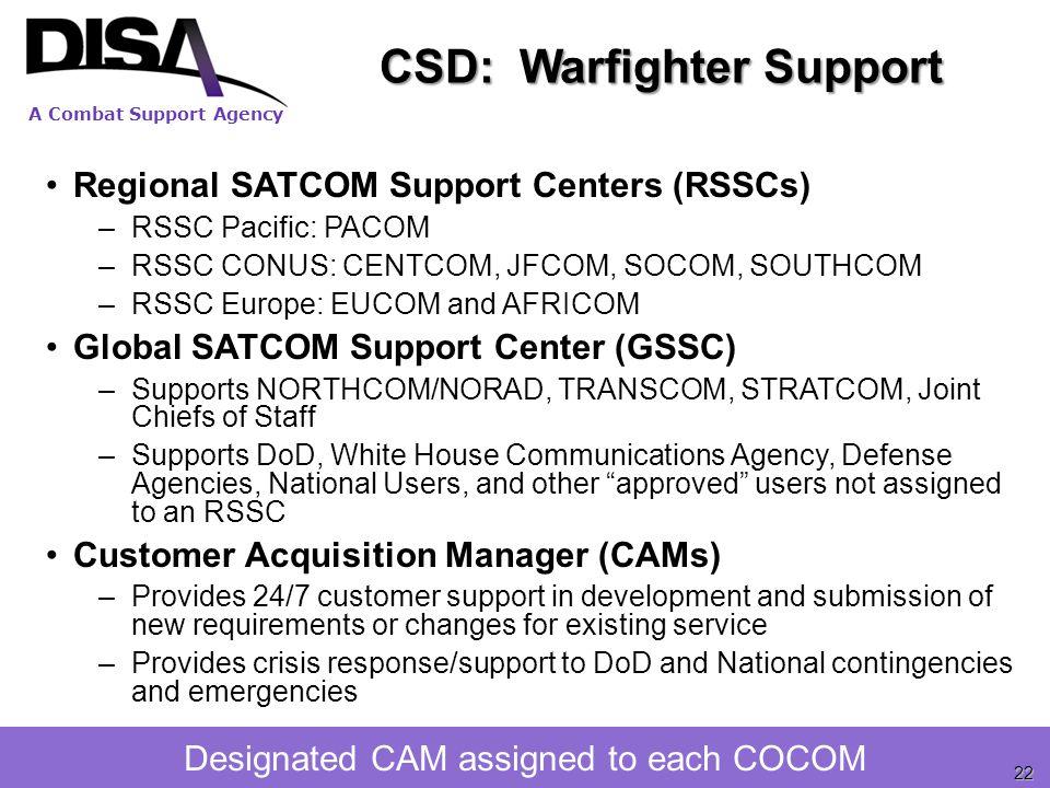 CSD: Warfighter Support