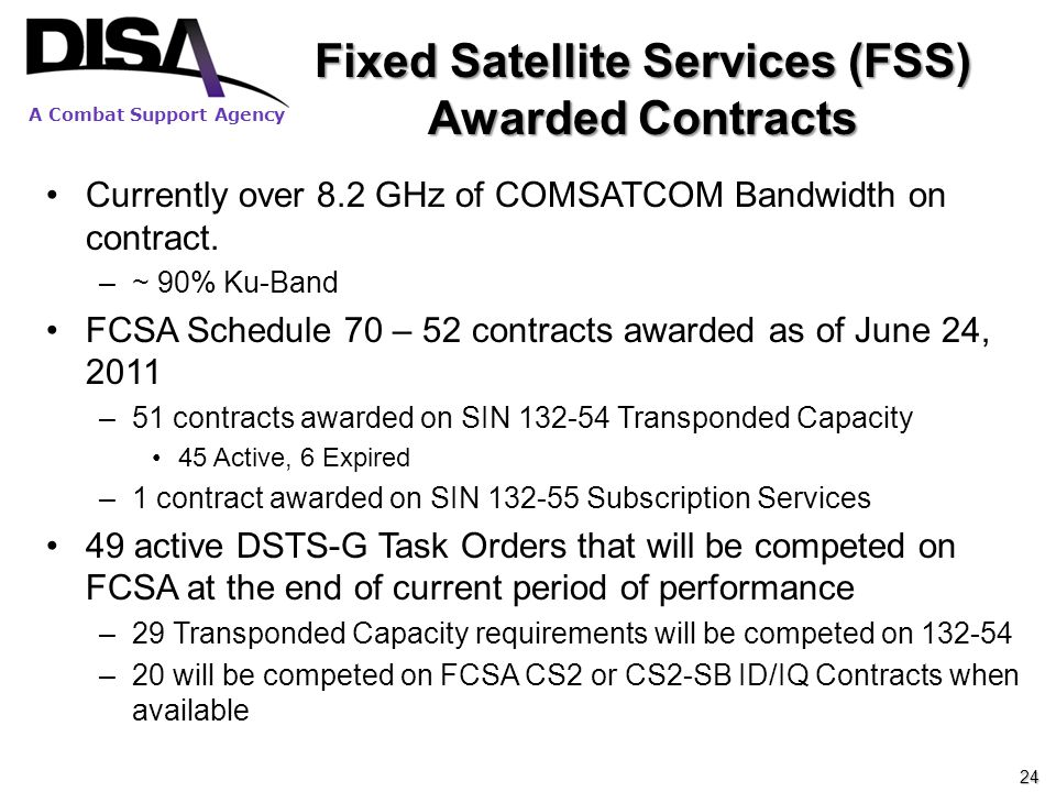Fixed Satellite Services (FSS) Awarded Contracts
