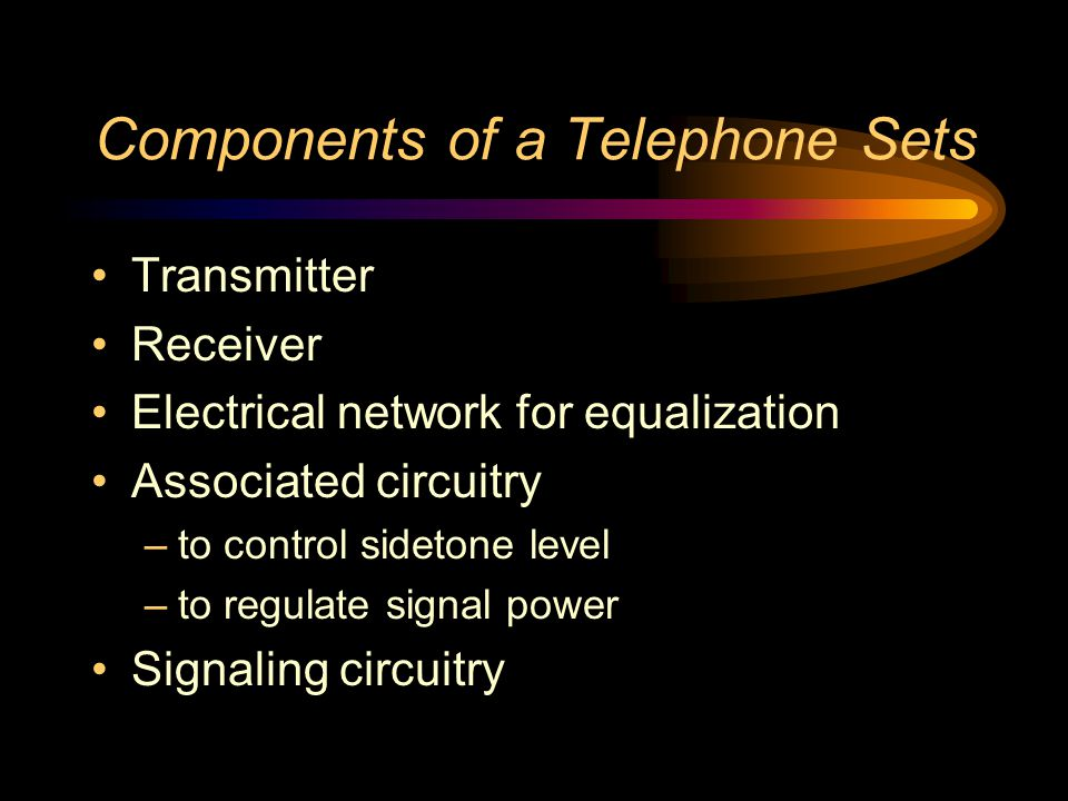 Components of a Telephone Sets
