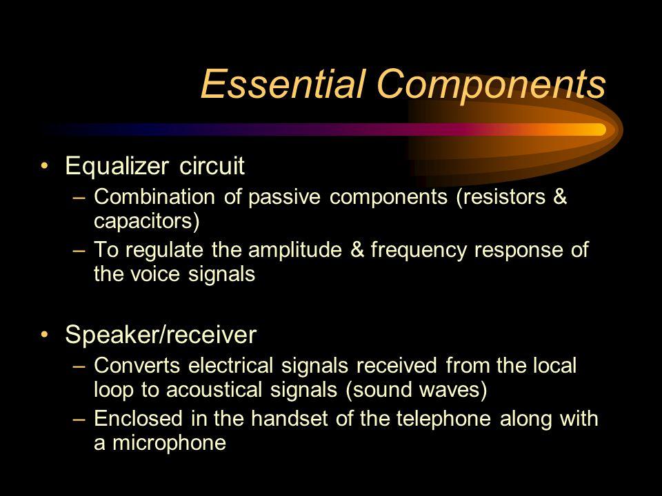 Essential Components Equalizer circuit Speaker/receiver